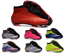 Wholesale kid soccer shoes superfly cr7 fg outdoor football shoes kids shoes high sneakers botas de futbol con tobillera football boots children shoes