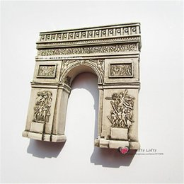 Wholesale pc France Paris Arc de triomphe Figures toys Magnet car home office fridge decoration Tourist Souvenir kids gifts