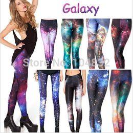Women Galaxy Legging Pants Galaxy Leggings for Women S M L XL 2XL Plus Size Galaxy Printed Leggings