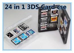 Memoria xbox en venta-Negro 24 en 1 juego de tarjeta de memoria porta llevar caja de la cubierta de la caja para Nintendo 3DS L / 3dsll / 3DSXL