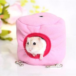 Wholesale Cute Mini Pet House Couch Hedgehog Hammock House Small Animal Bird Parrot Hamster Pet Cage Kennel Toys Color Random
