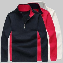 Wholesale Cashmere Jerseys Hombre - Wholesale-Colorful Big Horse Mens sweaters luxury sweater jersey hombre jumper ralphmen pullover cashmere long sleeve Brand Clothing