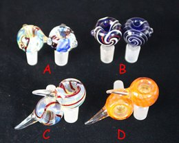 4 models Wig Wag 2016 Heady Pipes Glass Dome Colorful 18mm 14mm male Bowl Glass Bongs Bowl for glass water bongs smoking pipes