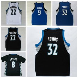 Wholesale 2016 Men Karl Anthony Towns Jerseys Karl Anthony Uniforms Zach LaVine Andrew Wiggins Shirt Ricky Rubio Team Color Blue White Black