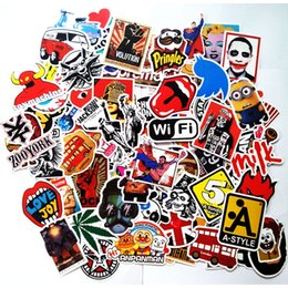 Wholesale 50pcs per bag various bomb Vinyl Sticker w Graffiti Pattern Waterproof for Car Laptop bike stickers