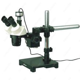2017 soportes de cámaras digitales Microscopio estéreo-Venta al por mayor - AmScope Suministros 10X-30X Microscopio estéreo en Boom soporte + 1.3MP cámara digital barato soportes de cámaras digitales
