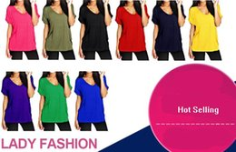 Wholesale shirt Womens Frill Necklace Gypsy Plus Size Ladies Short Sleeve Long V Neck Tunic Tops tunic