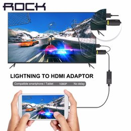 Wholesale ROCK P Lightning to HDMI Adapter for iPhone SE s plus hdtv adapter HDMI Cable iPhone to TV video audio output converter