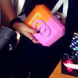 Wholesale Fashion Famous Brand Designer Acrylic Patchwork CC Clutch Brick Evening Bag Women Ladies Plastic Perfume Handbag with Logo Purse SP