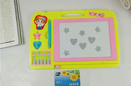 Children color magnetic sketchpad. Baby with abacus oversized puzzle write Sketchpad. Graffiti Sketchpad children Magnetic WordPad