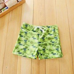 Wholesale Swimming Pants For Children - 2-6T 2016 New Baby Boys Brand Swimwear Kids Green Board Shorts Beach Pants Boy Bathing suit Boxer for Children
