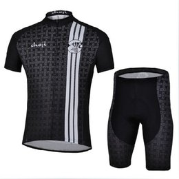 Wholesale CHEJI Black Cycling Jersey clothes Sleeves new Set Bike Team Shirt new clothess news Mallot Ciclismo Trajes de Ciclista