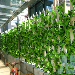 Wholesale 12pcs ft Artificial grape Ivy Vine Leaf Garland Plants Fake Foliage green Decor