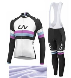 Wholesale Stylish giant liv race day Women Cycling Jersey Thermal Fleece Bicycle Clothing Long Sleeve Quick Dry Ropa Ciclismo Bib Pants