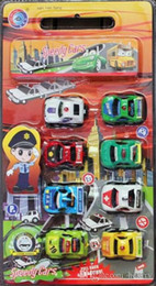 Wholesale Child car model toys, pull back police car piece, an 8 installation, transportation toy car