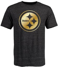 Wholesale Steelers T Shirts cheap rugby football jerseys Pittsburgh Salute To Service Banner Wave Black Gold Collection Tshirts freeshipping