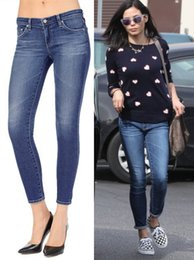 Wholesale 2016 Ag Years Legging Anckle Capris Denim Stretch Women Jeans Super skinny cropped Blue chic Brand Slim Jean Girl STYLE Good Quality