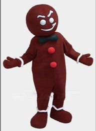 Wholesale high quality gingerbread man mascot costume custom fancy costume anime kits mascotte theme fancy dress carnival costume