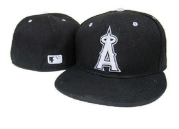 Wholesale New Los Angeles Angels MLB Baseball Cap D Embroidery Logo LA of Anaheim Cooperstown Fitted Hats