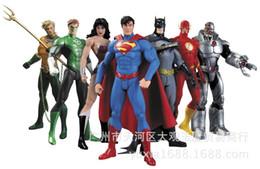 Wholesale 7pcs set DC Justice League Marvel superhero Superman Superman Batman S wonder woman Green Lantern Aquaman