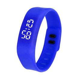 Wholesale Paradise Fashion LED Sports Running neutral Watch Date Rubber Bracelet Digital Wrist Watchch Apr09