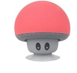 Wholesale 2016 Popular Mini Mushroom Speakers Subwoofers Bluetooth Wireless Speaker Silicone Suction Cup Cell Phone Tablet PC Stand