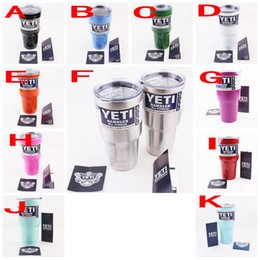 Wholesale 30oz USA flag skull yeti cooler cup rambler tumbler stainless steel cups insulated beer mug double wall YETI coolers mugs