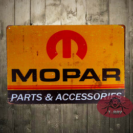 Wholesale Metal Tin signs quot Mopar Parts quot Metal Craft Garage Auto Shop Man Cave Wall Decor