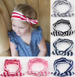 Children Girls Hair Accessories Kids Headbands Baby Girls Boutique hair striped rabbit ears hair band hair bows hairband kids headband