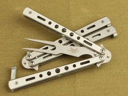 Wholesale The wild American butterfly knife folding knife cutter knife fork C23 training exercises without flail blades larvae
