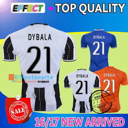 Wholesale 2016 Italy Club soccer jersey home away blue yellow DYBALA MORATA MARCHISIO MANDZUKIC DANI ALVES Top Quality Serie a football shirt