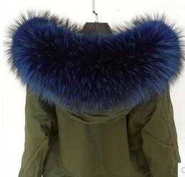 Wholesale Led Leather Jacket - free shipping real fur Big raccoon fur collar Down jacket fur collar cap led collars fox many colors multicolor collar woolen scarf