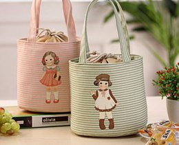 Wholesale Kawaii NEW Baby DOLL Cartoon CM Convinent Lunch Box Holder BAG Pouch Storage Handbag Pouch BAG Outdoor Lunch BAG Pouch