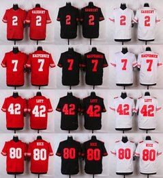 Wholesale 2016 Elite Mens ERS Blaine Gabbert Colin Kaepernick Jerry Rice Ronnie Lott Stitched Jerseys Free Drop Shipping
