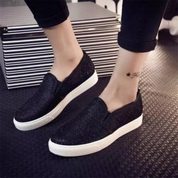 2016 Fashion Casual Flat Spring Autumn Women's Sequined Canvas Running Summer Shoes Men For Women Loafers Alpargatas Sneakers