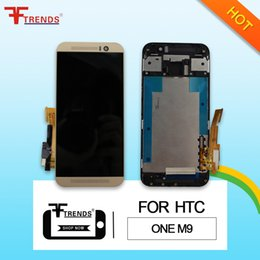 Original A+++ for HTC One M9 LCD Display & Touch Screen Digitizer with Front Frame Housing Full Assembly 100% Tested