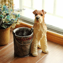 Wholesale Large decoration Large dog schnauzer resin decoration floor decoration desktop decoration theroom