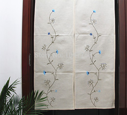 Wholesale Handmade embroidered curtain waffle cloth curtains air curtain old coarse