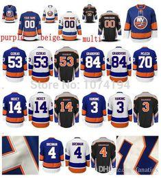 Wholesale Men s Best Quality Travis Hamonic Jersey New York Islanders Thomas Hickey Jersey Cheap Ryan Strome Casey Cizikas Jersey