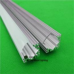 Wholesale inch m led bar light led corner aluminium profile matte clear cover degree alu channel with rigid strip
