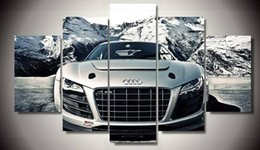 Wholesale unframed Printed Audi Car piece picture painting wall art children s room decor poster canvas