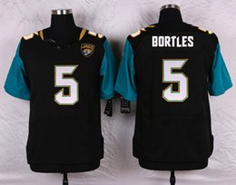 Wholesale 2016 Mens Elite QB Blake Bortles Jaguars Stitched Name Number Jerseys Black Green Free Drop Shipping