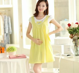 Retail 1PC Maternity Clothes Summer Dress For Pregnant Women Casual Cotton Maternity Dresses