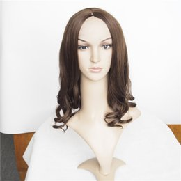 Synthetic Curly Wig Lace Front Brown Color 20inch 220g Rihanna's Hairstyle Perruque Lace Front Synthetic