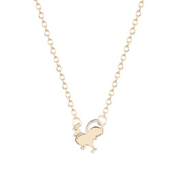 10pcs lot Pendant Necklace Chicken Necklace chicken charm necklack rooster necklace animal jewelry For Girl Gift