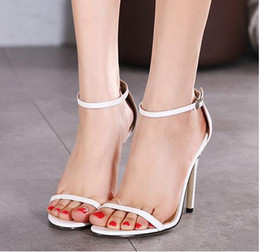 2016 New Hot Fashion Career Party Heels Shoes Simple Sandals Women Summer Street Casual High Heels Shoes