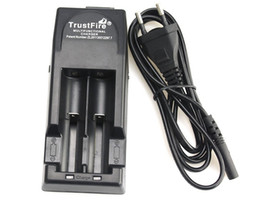Wholesale TrustFire TR Dual Battery Charger Car Charger Lithium Mod Battery Charger Best price DHL