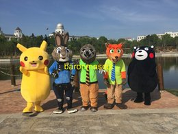 Wholesale Zootopia Mascot Costume Judy Hopps Nick Wilde Flash Pikachua Costumes Party Fancy Dress Adult Size Fit to