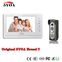 "Video Door Intercom 7"" TFT Color Rainproof Phone Doorbell System Kit IR Camera Doorphone monitor Speakerphone intercom Night Vision Home"