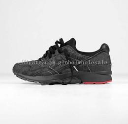 Wholesale Gel V Running Shoes Men Women Original Retro Black Denim Walking Sneakers Lyte Gel Sport Boots US Max Size
